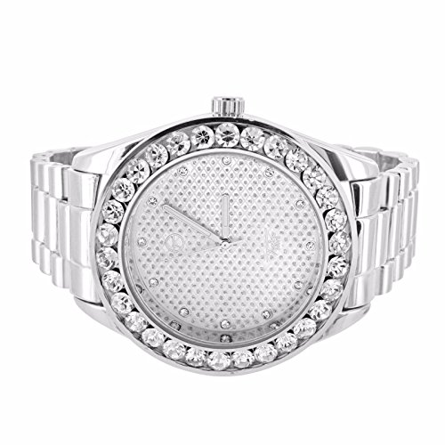 Mens 14k Tone Iced out Simulated Diamond Hip Hop Rapper Techno Pave Watch - Tone Iced Out Watch