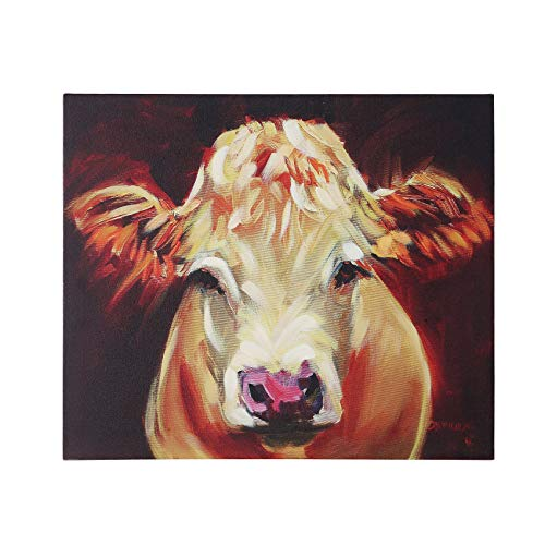 Creative Co-op Brown Cow Canvas Wall -