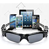 Brotherhood Wireless Smart Glass Sunglasses Build in Bluetooth Headset Headphone Mp3 for iPhone Samsung Galaxy, HTC, LG and All Smartphones