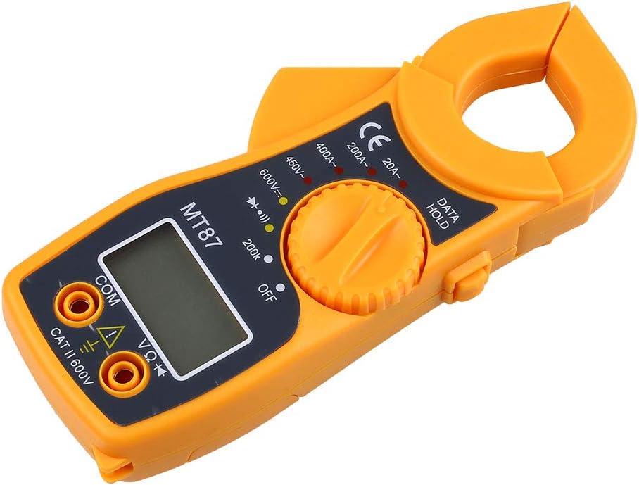 MT87 Mini Abrazadera Tipo 1999 Mult/ímetro digital LCD Voltaje CA//CC Medidor de amperios CA