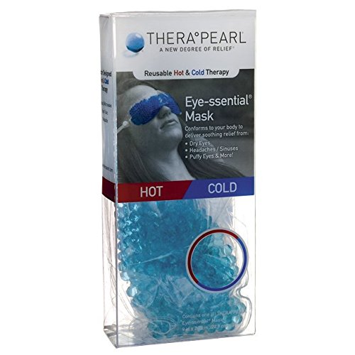 TheraPearl Eye Mask, Eye-ssential Mask with Flexible Gel Beads for Hot Cold Therapy, Best Spa Eye Wrap for Puffy Eyes, Non Toxic Compress for Swollen Eyes, Relaxation, Hot Cold - Mask Ice And Fire