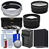 Essentials Bundle for Fuji X100F Digital Camera with Battery & Charger + Tele/Wide Lenses + 3 UV/CPL/ND8 Filters + Cleaning Kit