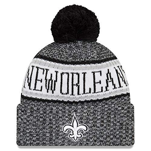 (New Orleans Saints New Era On-Field Tech Sideline Cuffed Knit Hat Black by New Era)