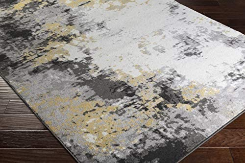 Cantrell Mustard Yellow and Gray Modern Area Rug 7'11″ x 10'