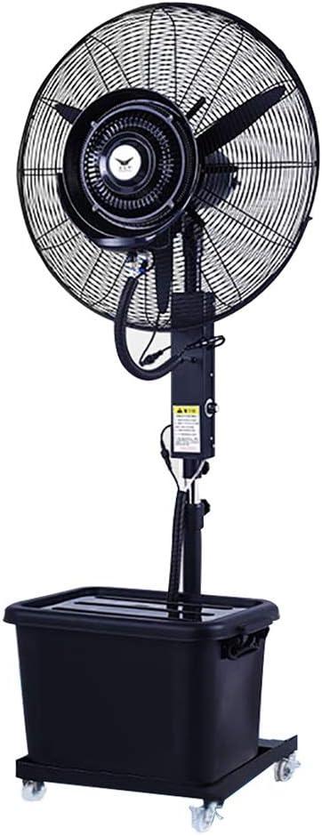 Ventiladores de pedestal Ventilador de piso rociable de 260 vatios, hoja grande de ventilador de 65 cm Ventilador de oscilación vertical de oscilación vertical, Enfriador de aire for aplicaciones indu
