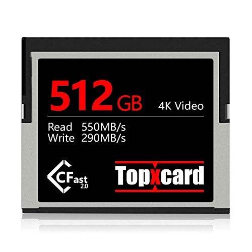Topxcard 3700X CFast 2.0 Card 512GB - (URSA MINI 4.6K • 1DX MARK II • C200•XC10•XC15) by Topxcard