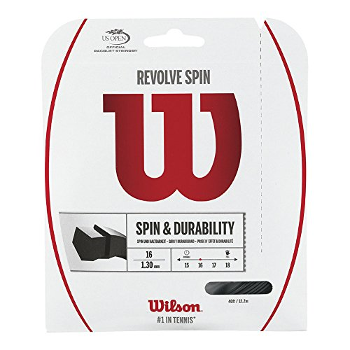 Wilson Revolve Spin (17-1.25mm) Tennis String Set (Black)