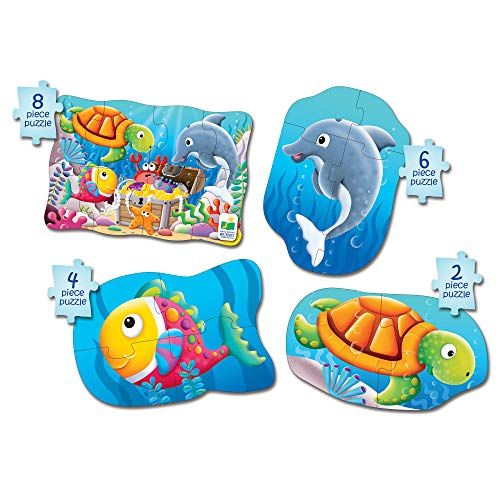 - The Learning Journey My First 4-In-A-Box Puzzle - Ocean - Educational Toddler Toys & Gifts for Boys & Girls Ages 2 & Up