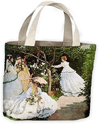 Claude Monet Mujer por el jardín Bolsa Bolso De Compras Para Toda La Vida: Amazon.es: Zapatos y complementos