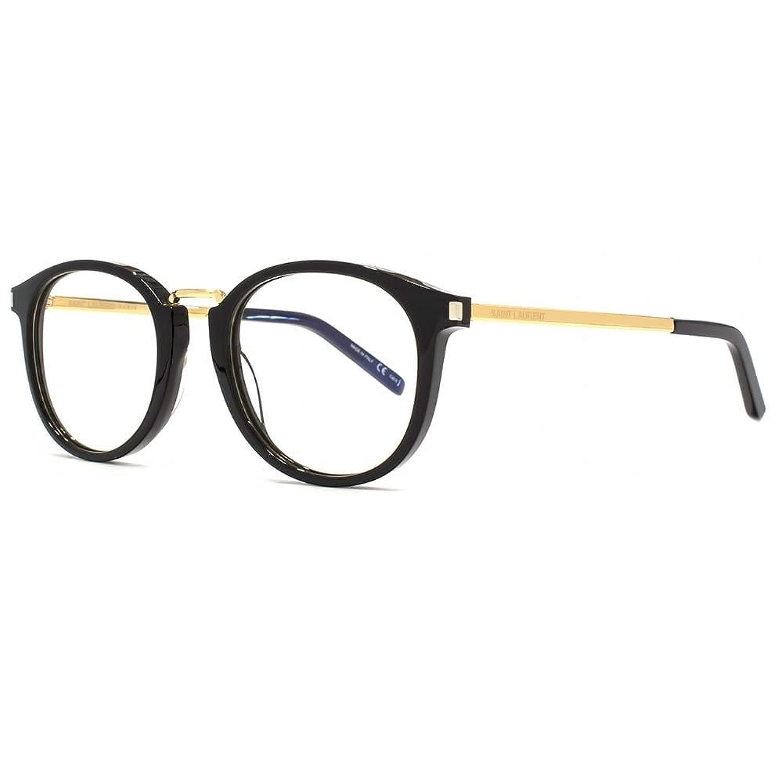 Saint Laurent Unisex-Erwachsene Sonnenbrille SL 130 Combi 004, Schwarz (Black/Transparent), 49