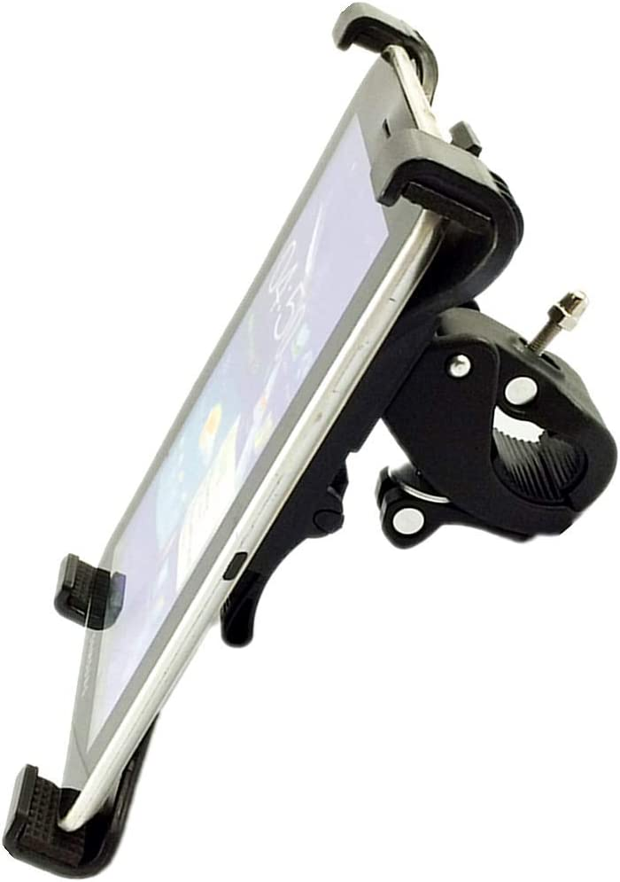 7-11'' Universal Tablet Holder for Stationary Bicycle, Treadmill, Elliptical, Spin Bike, Microphone Stand, and Indoor Exercise Equipment