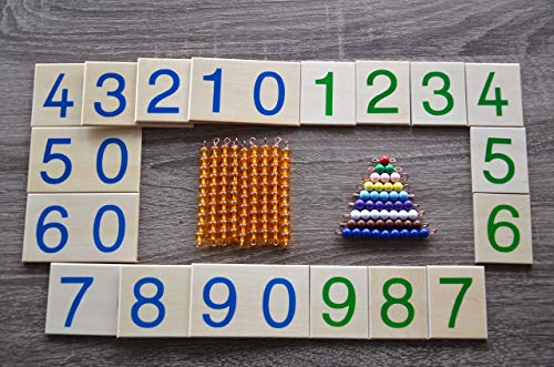 Montessori double digits learning place value math set , learn 1-99, units, tens ()