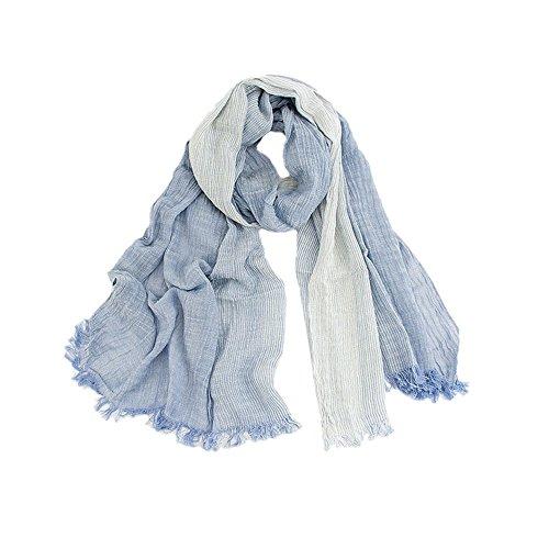 Coton Automne Châle Hiver Aiklin Bleu Echarpes Foulard Femmes En x7awSnXqTR
