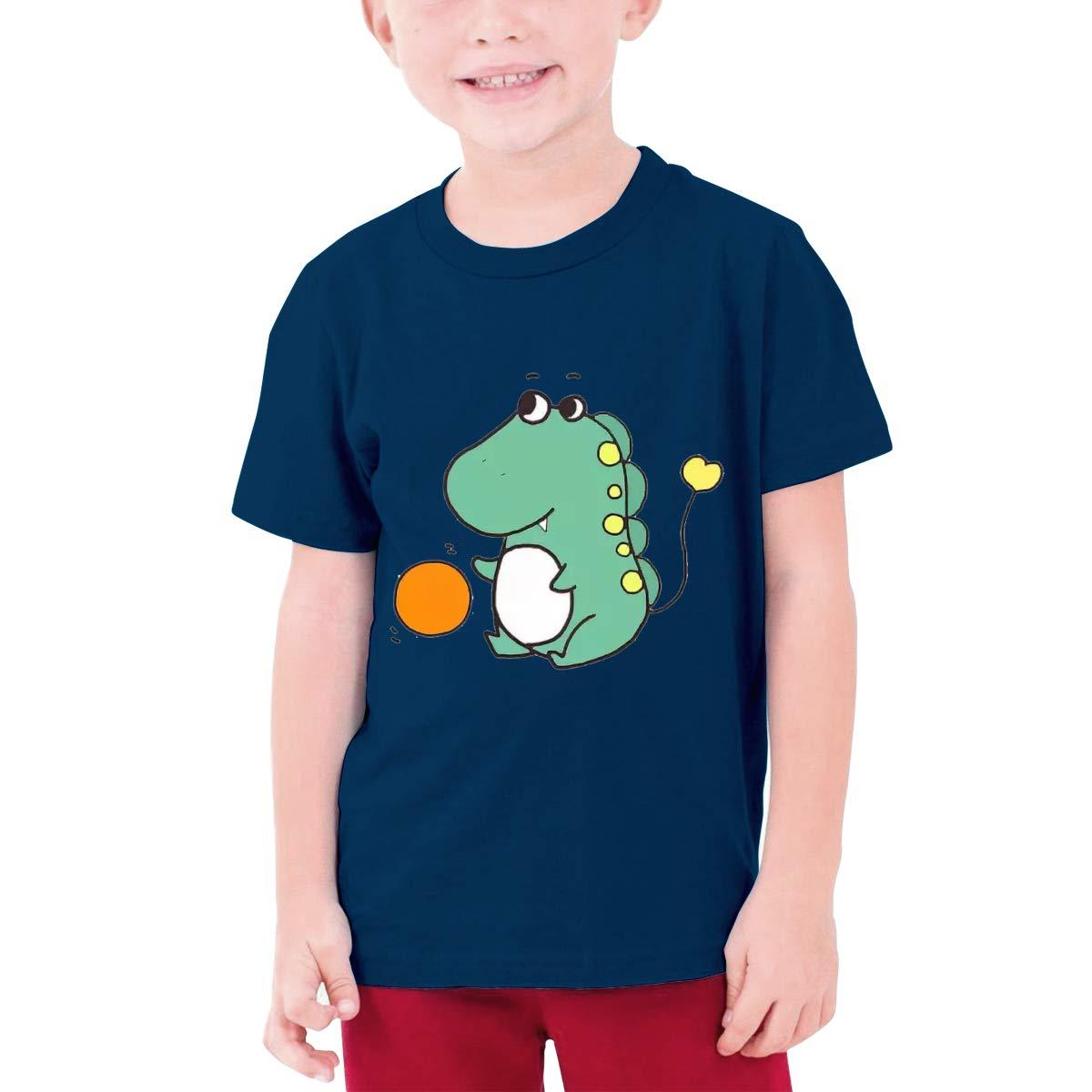LianLiYa Boys Dinosaur Baby Short Sleeve T Shirts 100/% Organic Cotton Black
