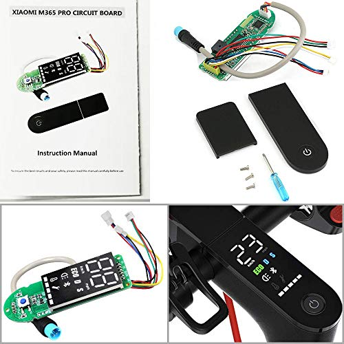 AngeliaSky Xiaomi M365 Circuit Board and Clear Screen Cover for Xiaomi  Electric Scooter Mijia M365/ M365 Pro Scooter Dashboard(Upgrade Version)