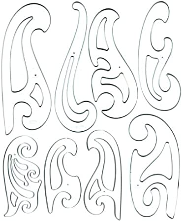PLASTIC FRENCH CURVES DRAWING TEMPLATE EDGE RULERS SET TECHNICAL DRAWING STENCIL