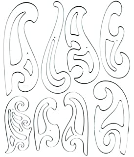Amazon.com: Alvin French Curve Set of 8 FC88: Arts, Crafts & Sewing