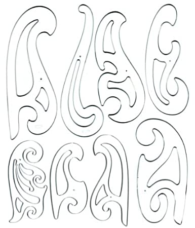 Amazon.com : Westcott French Curve Template Set of 8 : Technical ...