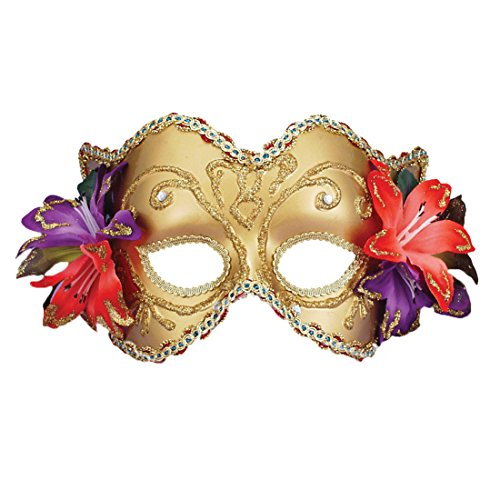 theater Gold Costume Mask Venetian Mask Mardi Gras Masque Masquerade Ball Sizes: One Size ()