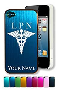 Engraved Aluminum iPhone 4/4S Case/Cover - LPN, LICENSED PRACTICAL NURSE - Personalized for FREE (Click the CONTACT SELLER button after purchase and send a message with your case color and engraving request) by lolosakes by lolosakes