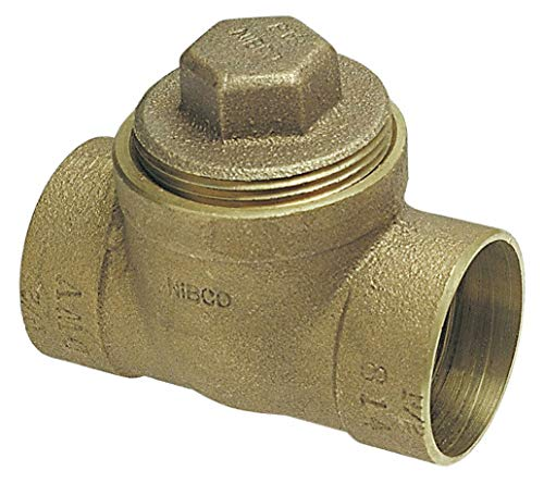 NIBCO Cast Bronze DWV Test Tee, C x C x Cleanout with Plug Connection Type, 2