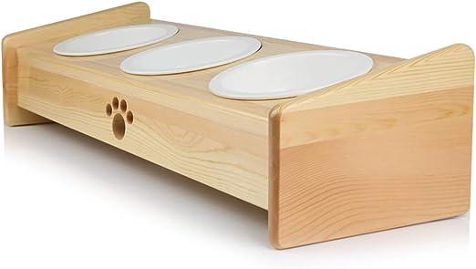 CXQ Tazón para Perros Tazón para Gatos Tazón Creativo Mesa de ...