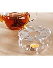 DecentGadget High Heat Resistant Borosilicate Glass Teapot Warmer (teapot warmer)