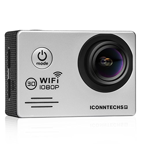 ICONNTECHS IT Full HD 1080P Sport Action Camera WiFi FHD 60 fps HDMI 14MP 170 Degree Wide Viewing Angle 2.0 Inch LCD Waterproof DV Camcorder for Extreme Outdoor Sports (Silver)