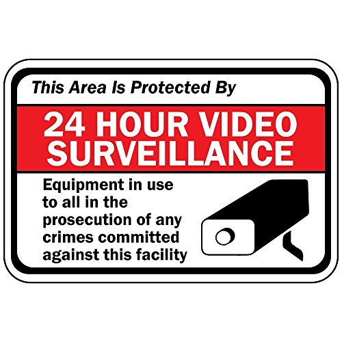 Personalized Metal Signs This Area Is Protected By 24 Hour Video Surveillance Metal Aluminum Sign 12 X 18 Inch
