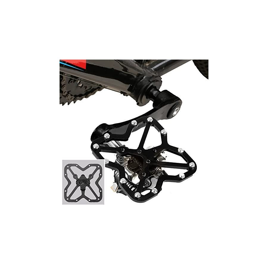 BASEEING Bike Cleats for Shimano Cycling Shoes Compatible with SPD SH51 Mountain Bike Cleats Bicycle MTB Cleats 9 Degree Float