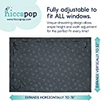 "hiccapop Portable Travel Blackout Curtains | Adjustable Blackout Shades for Nursery or Bedroom | Easy Install Heavy Duty Silicone Hooks Won't Fall Off | Temporary Blackout Window Shade | Up to 78""x52"""