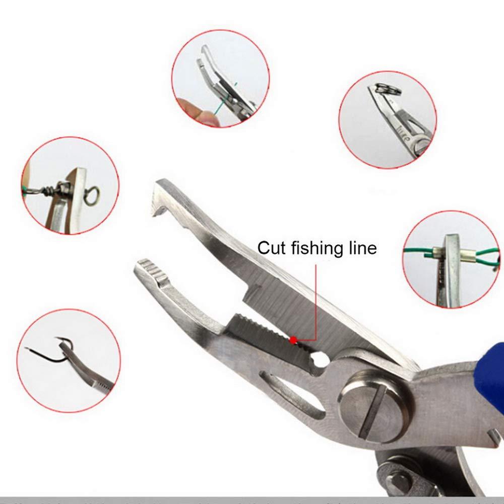 Corte escrimen alicates Pinzas de Punta Larga para Cortar Cables con Bolsa de Nailon para Pesca alicates multifunci/ón 12,5 cm Robluee