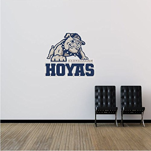 Georgetown Hoyas NCAA USA Combo Logo College Sport Art Wall Decor Sticker 25'' x 22''