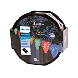 Philips 80ct Christmas LED Spool 8 Function Faceted C9 String Lights - Multicolored