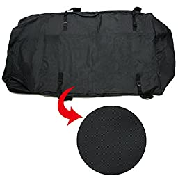 TIROL Water Resistant Roof Bag Roof Top Cargo Carrier (15 Cubic Feet)