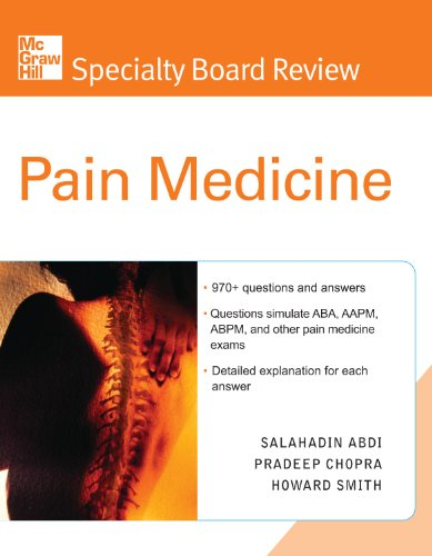 McGraw-Hill Specialty Board Review Pain Medicine Pdf
