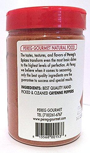 Pereg Ground Cayenne Hot Pepper Kosher For Passover 4.2 Oz. Pack of 3