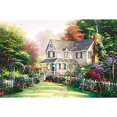 Limsea Forest Hut Puzzles for Adults 1000 Piece Large Puzzle, Vintage Paintings Landscape Entertainment Release Stress Team Home Game Toys Unique Home Decorations and Gifts: Clothing