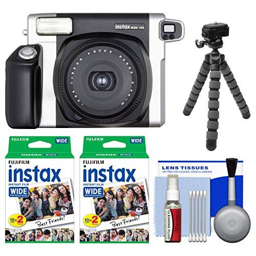 Fujifilm Instax Wide 300 Instant Film Camera with 40 Instant Film Prints + Flex Tripod Kit