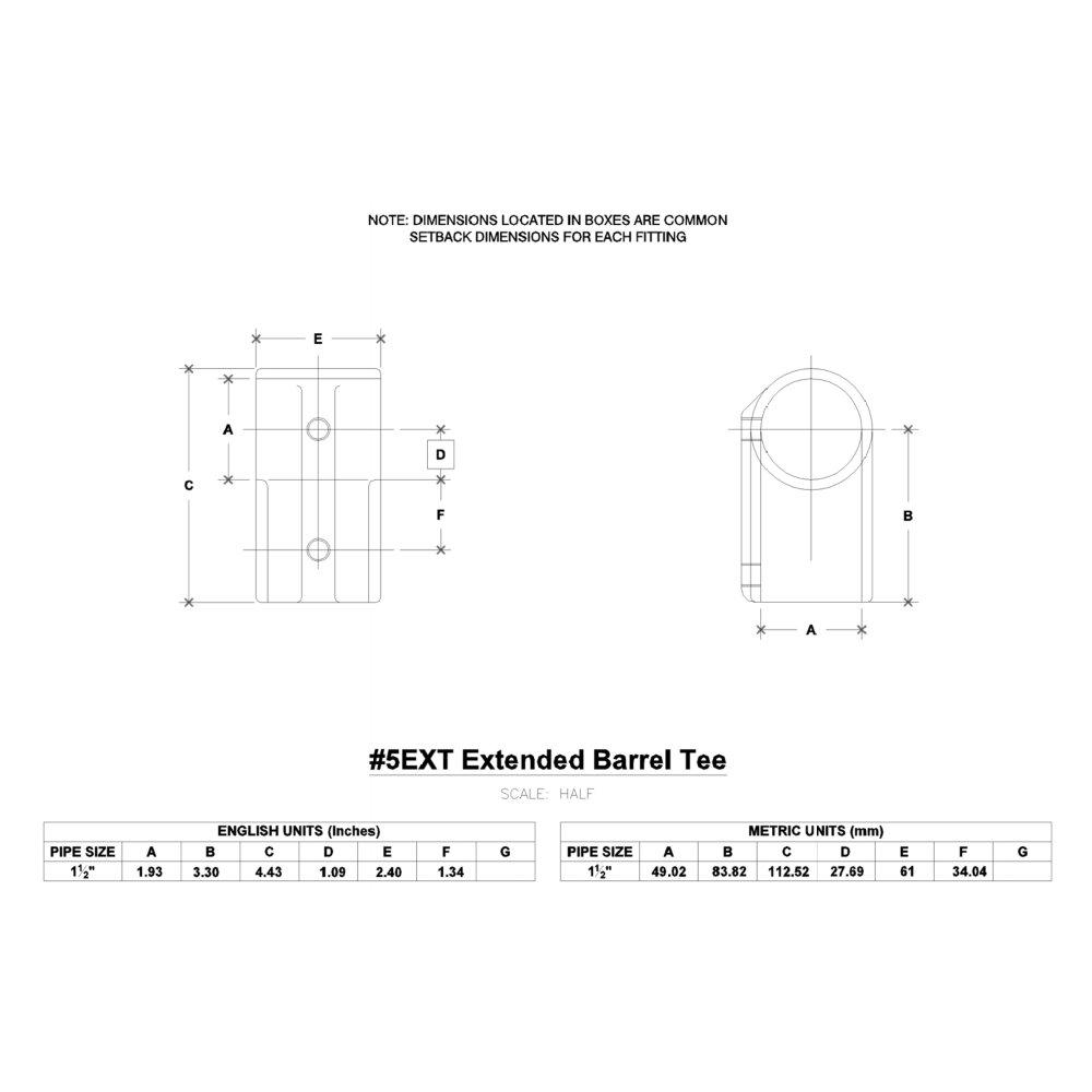 Hollaender 5EXT Aluminum Magnesium Pipe Size-1-1/2'' IPS