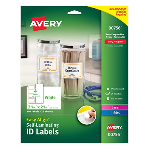 Avery Professional Self Laminating Resistant 00756