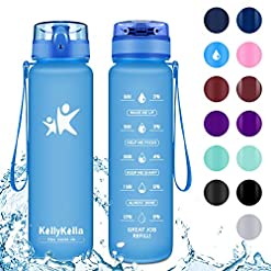 KollyKolla Sports Water Bottle – 350/500/800ml/1L/1.5L, BPA Free Tritan Plastic Eco-Friendly Drink Bottles with Filter… Amazon choices