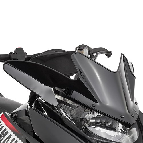 (Yamaha SR Viper Low Snowmobile Windshield Black 9.5