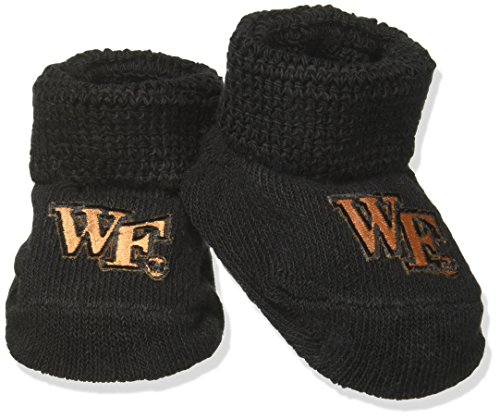 Two Feet Ahead NCAA Wake Forest Demon Deacons Infant Gift Box Booties, One Size, -