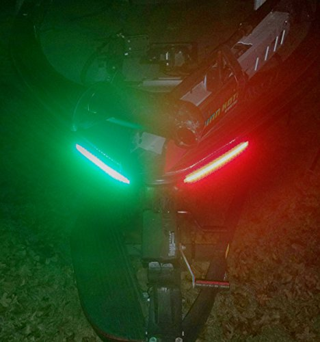 Interwebz Boat Bow Navigation LED Lighting Kit - Red and Green (Lights Navigation)