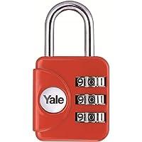 Yale YP1/28/121/1 Candado de Viaje de combinación, Rojo