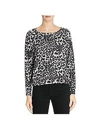 Velvet Womens Fleece Leopard Print Pullover Top