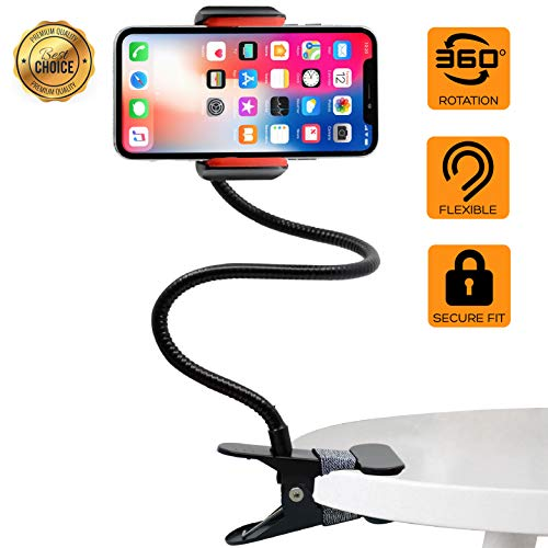- Phone Holder, Gooseneck Phone Holder, Phone Stand, Cell Phone Stand, Cell Phone Holder, Phone Mount, Phone Holder for Desk, Phone Stand for Desk, Phone Holder for Bed, Phone Stand for Recording