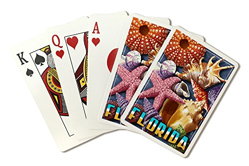 - Florida - Shell Montage (Playing Card Deck - 52 Card Poker Size with Jokers)