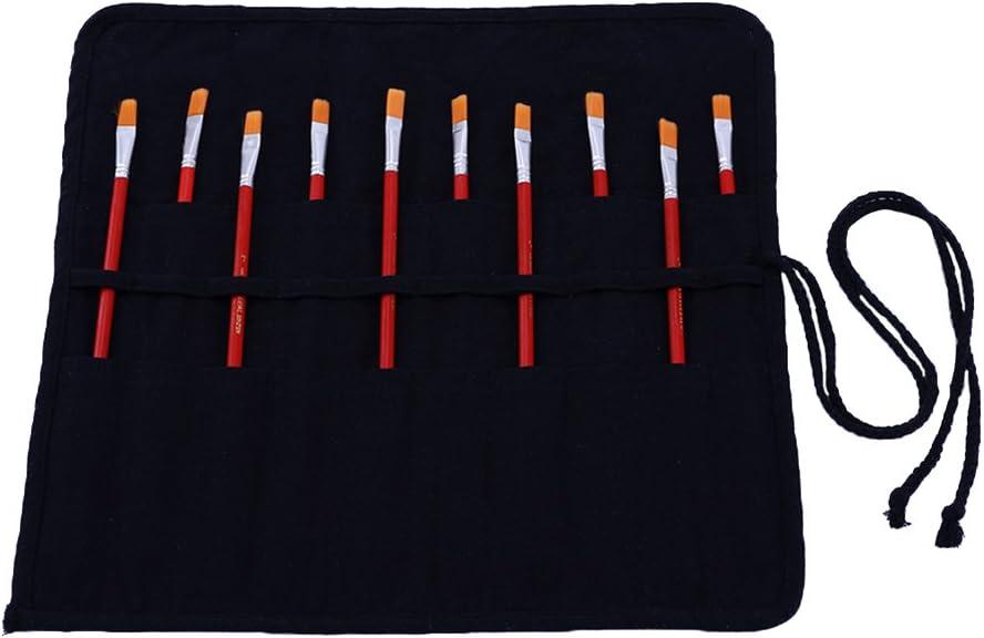 bolsa organizador para brochas de arte profesionales infantil adulto Abar/ía Bolso estuche enrollable para pinceles para pintar al /Óleo//Acr/ílica//Acuarela portal/ápices de lona 20 agujeros